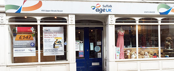 AgeUK Charity Shop Ipswich