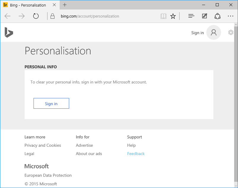 Windows 10, Privacy Settings, manage personal info