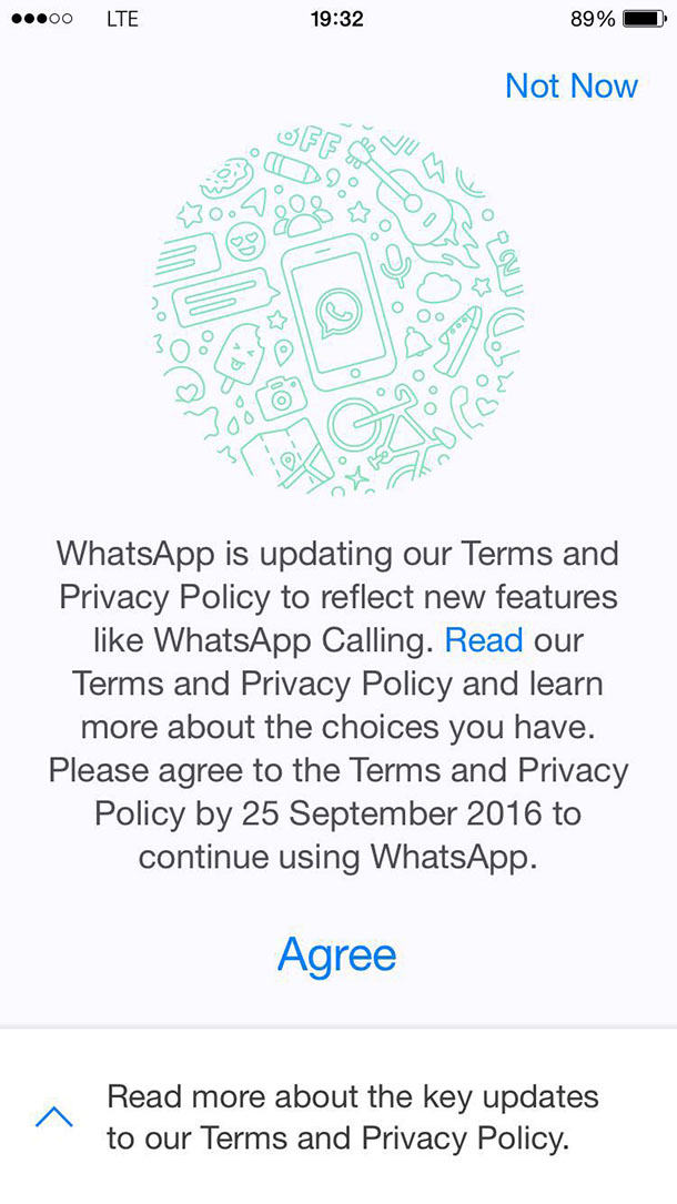 WhatsApp Privacy Policy 1 Step 1