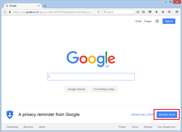 Google Privacy step 01