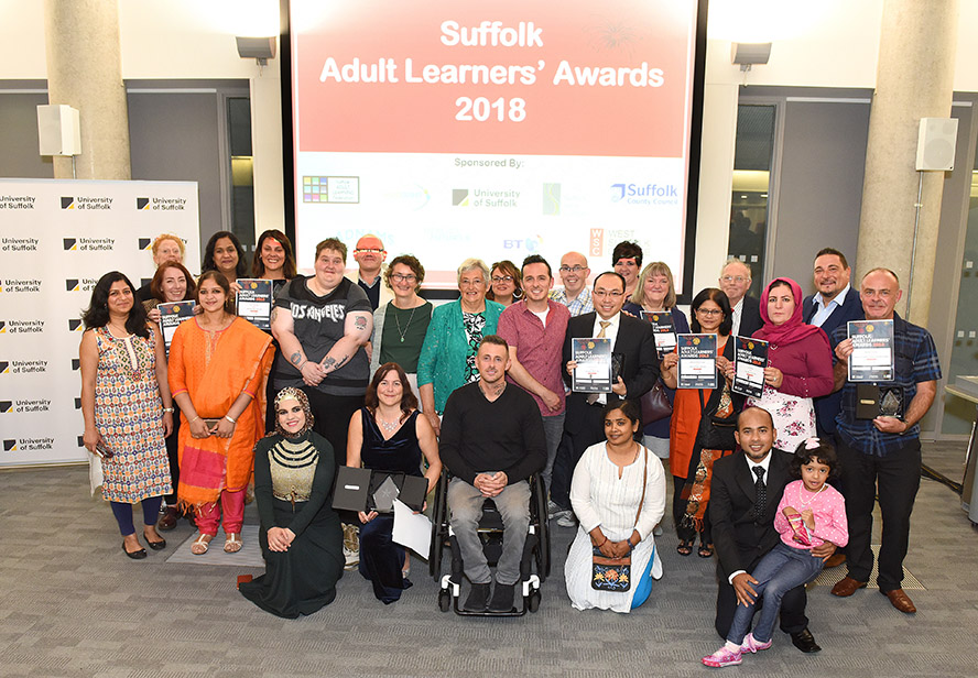 Winners & Runners Up Suffolk Adult Learners Awards