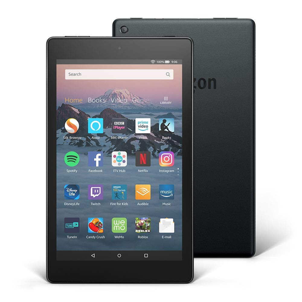 "Amazon All-New Fire HD 8 Tablet with Alexa, 8"" HD Display, 16 GB, Black"