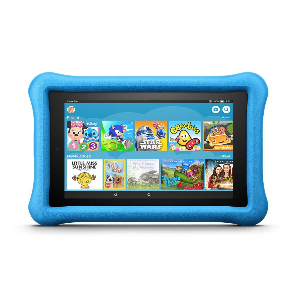 "Amazon Fire 7 Kids Edition Tablet, 7"" Display, 16 GB, Blue Kid-Proof Case"