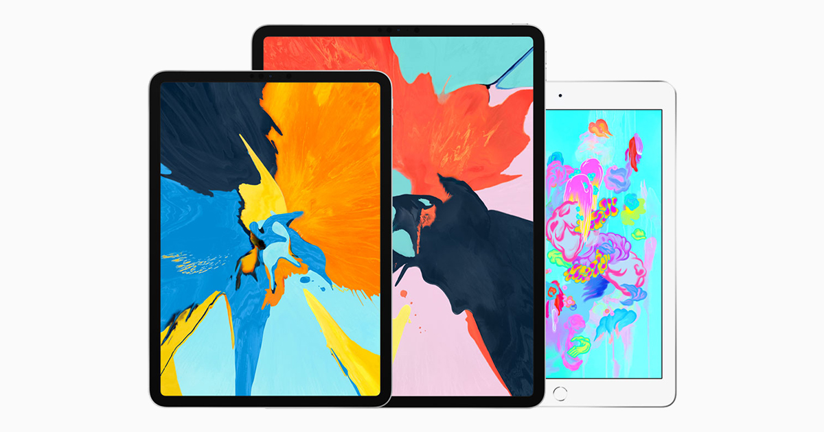 "Apple iPad Pro 11"" and 12.9 with iPad 2018 at the back"