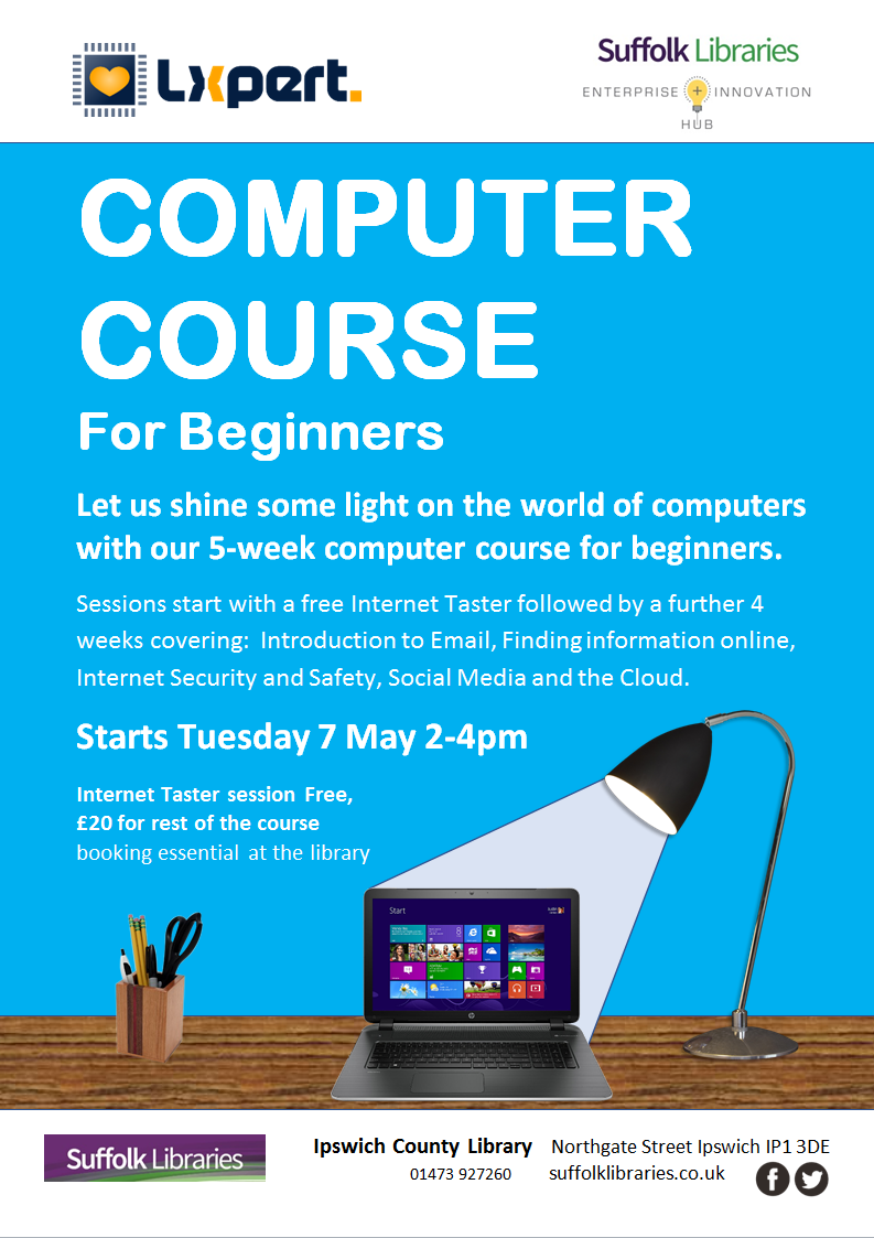 Computer Course for Beginners at the Ipswich County Library Nov 2018