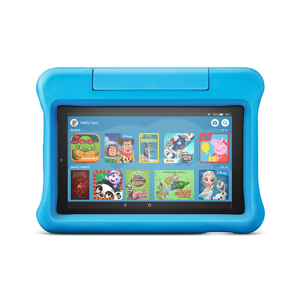 """Amazon Fire 7 Kids Edition Tablet, 7"""" Display, 16 GB, Blue Kid-Proof Case"""