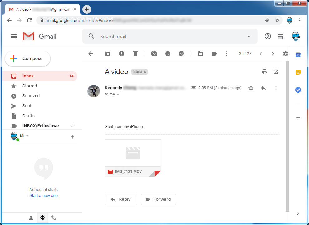 Open attachment in Gmail step 1